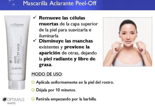 Mascarilla Aclarante Peel Off