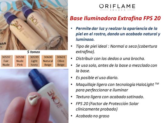 Oriflame Base Iluminadora Extrafina FPS 20