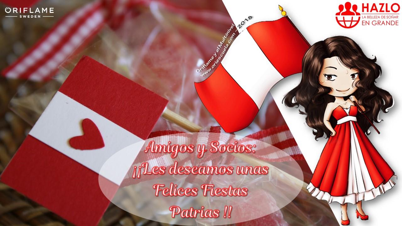 Felices Fiestas Patrias Perú 2018